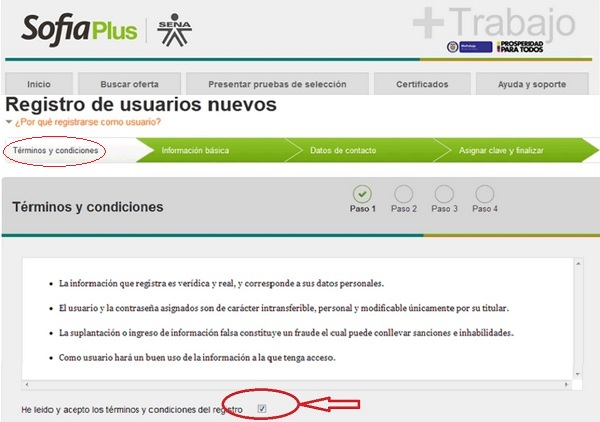 """Registro SOFIA Plus. Paso 1"""