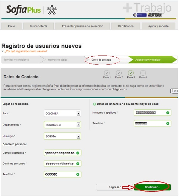 """Registro SOFIA Plus. Paso 3"""